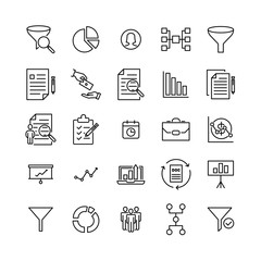 Premium set of freelance line icons.