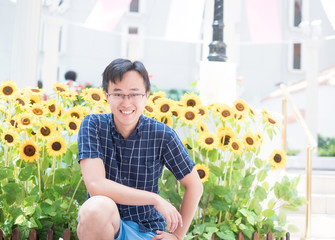 man with the sunflower