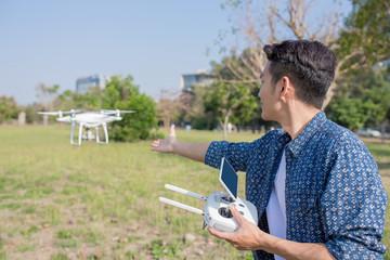 man play drone