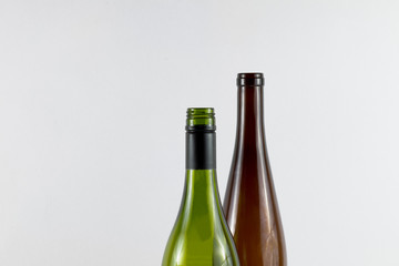 Empty Wine Bottle Necks