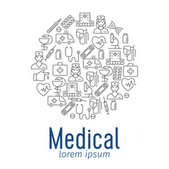 Medical poster with flat icons