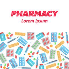 Pharmacy poster flat icons