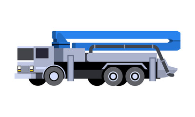 Concrete pump vehicle icon