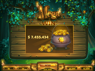 Playing field mega win window Shadowy forest GUI