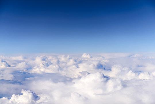 sky above clouds