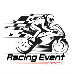 Vector illustration, Racing event symbol