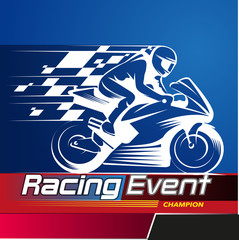 Vector illustration, Racing Event championship symbol