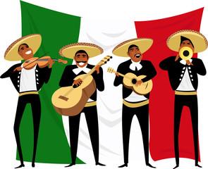 Mexican musicians. vector illustration