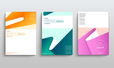 Modern abstract covers set. Cool gradient geometric shapes composition. Futuristic design. Eps10 vector.