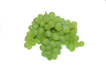 Grüne Trauben auf weißem Hintergrund