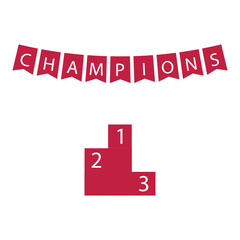 Champions Vector Template Design Illustration