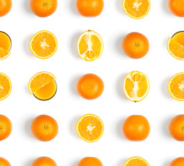 Orange seamless pattern. Fruit background