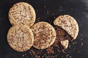 Cookies with flax seeds