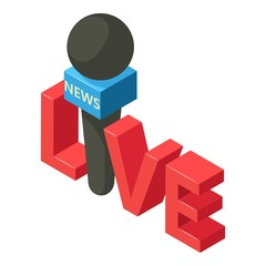 Important news icon. Isometric illustration of important news vector icon for web