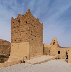 Small fort and tower at the Monastery of Saint Paul the Anchorite (aka Monastery of the Tigers), dates to the fifth century AD and located in the Eastern Desert, near the Red Sea mountains, Egypt