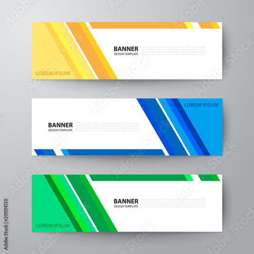 banners web design template abstract vector background fotolia com
