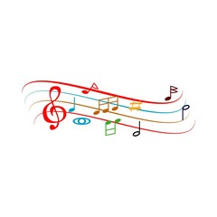 Musical Notation Vector Template Design Illustration