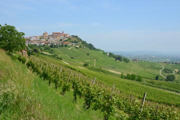 Papiers peints Vignoble イタリア、ワインの里ピエモンテの風景