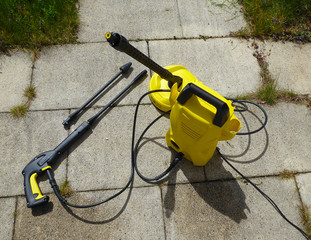 Terrace Cleaning with Pressure Washer