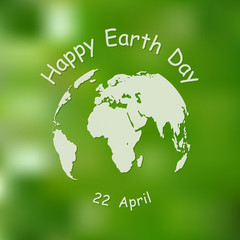 Happy Earth Day background. Vector illustration.