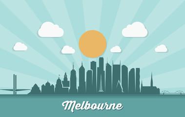 Wall Mural - Melbourne skyline - Australia