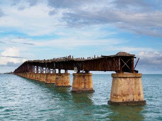 Bahia Honda Rail Bridge. Old railroad bridge in the lower Florida Keys