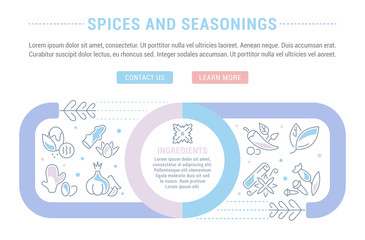 Website Banner and Landing Page of Spices and Seasonings.