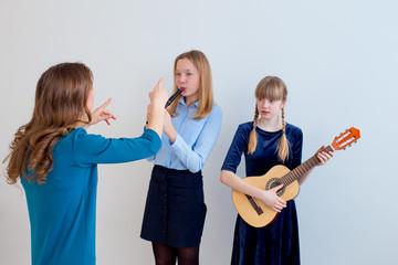 Music lesson indoors