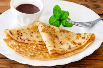 French pancake - Crepe and chocolate