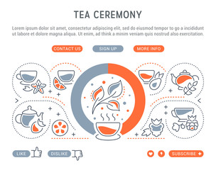Website Banner and Landing Page of Tea Ceremony.