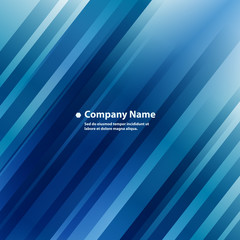 Company Profile Background. Abstract Blue Diagonal Stripes Lines.