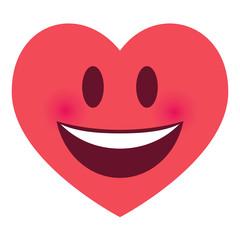 Herz Emoji lachend