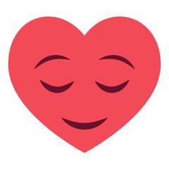 Herz Emoji zufrieden