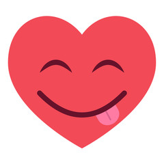 Herz Emoji frech