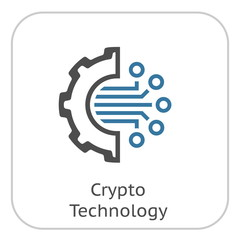 Crypto Technology Icon.