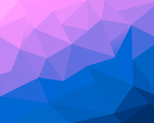Polygon background. Abstract low poly wallpaper. Colourful graphic resource.