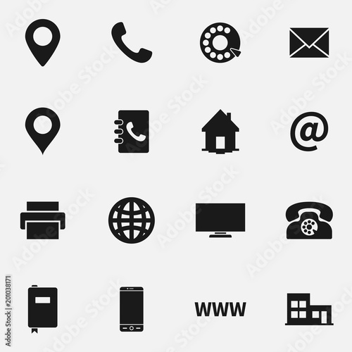 Set of business card vector icons stock image and royalty free set of business card vector icons reheart Choice Image