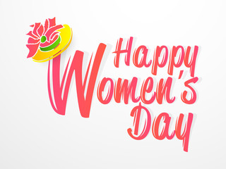 nice and beautiful abstract, banner or poster for Women's day with nice and creative design illustration.