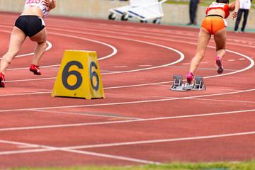 女子200メートル競走
