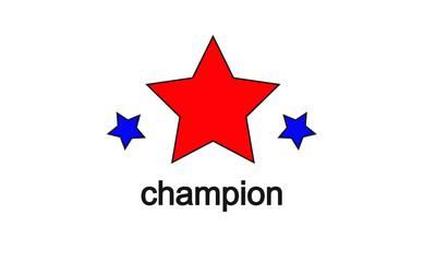 champion red blue colour