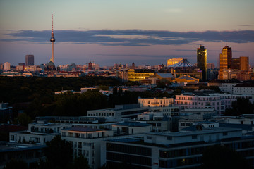 A view of Berlin at sunset