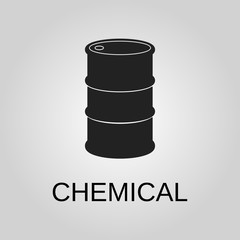 Chemical icon. Chemical symbol. Flat design. Stock - Vector illustration