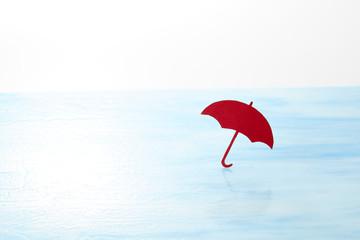 赤い傘 雨上がり