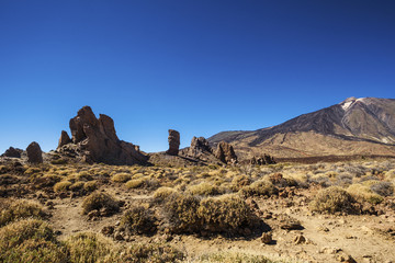 View of volcano Mount Teide