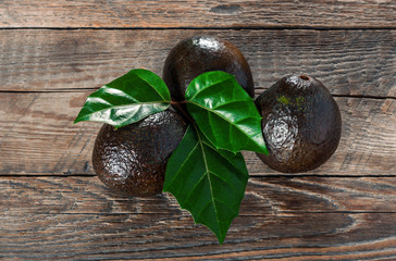 Avocado on a wooden background