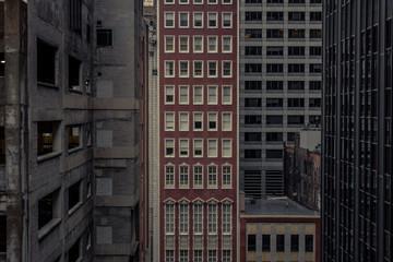 In between buildings