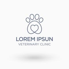 Veterinary Clinic Logo. Isolate vector illustration.