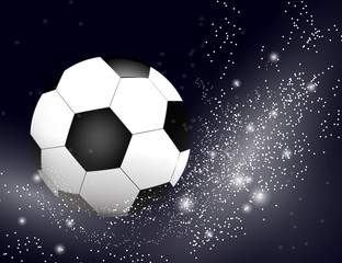 Football , soccer Ball on bright Background with Space for Your Text.