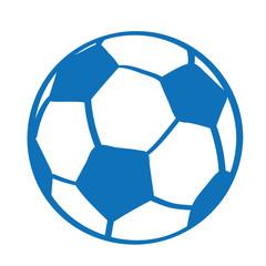 Handgezeichneter Fußball in dunkelblau