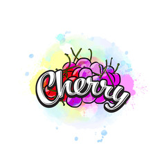 Cherry colorful label sign